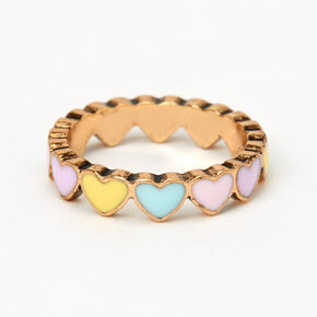 Gold Candy Hearts Ring,