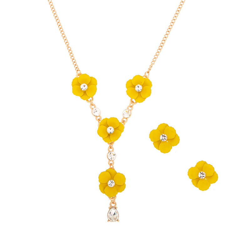 1828dc13a Spring Floral Jewellery Set - Yellow | Claire's