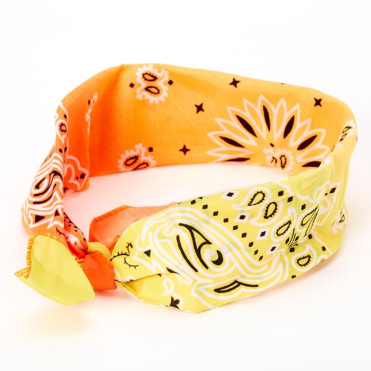 Sunset Ombre Paisley Bandana Headwrap,