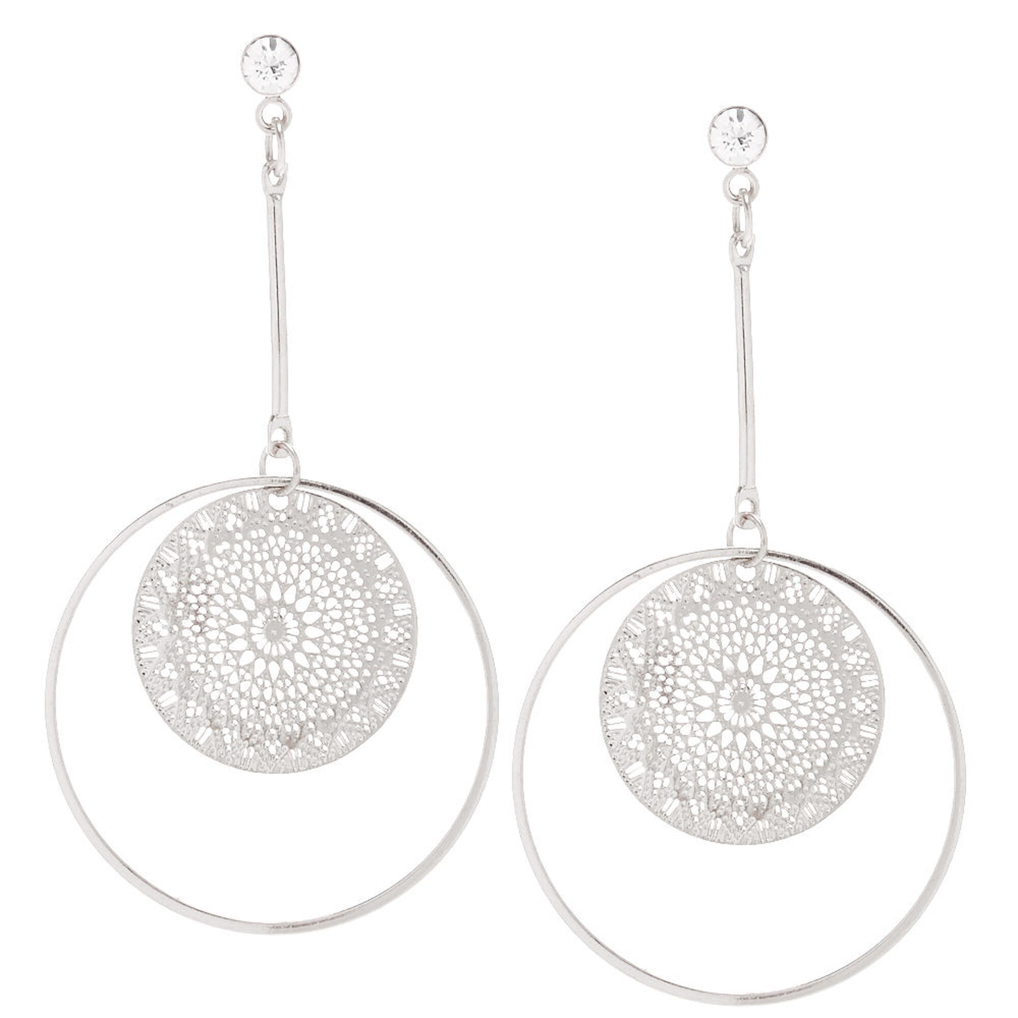 silver brass dynamic and circle silpada double circular sterling jewelry drop earrings duo in