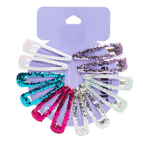 Glitter Princess Snap Hair Clips,
