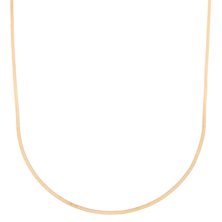 Gold Snake Chain Necklace,
