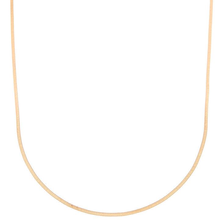 Collier chaîne serpent couleur dorée,