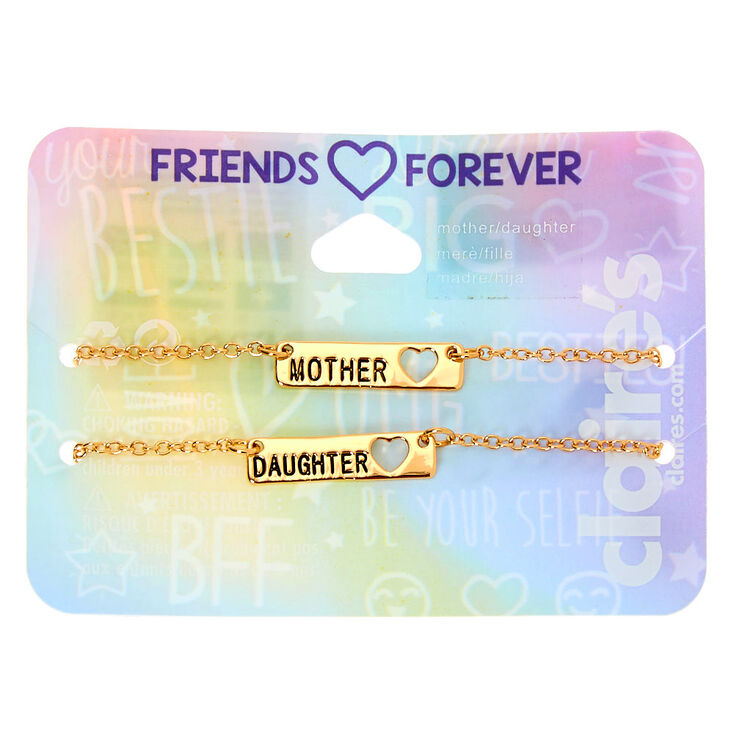 Gold Chain Mother Daughter Bracelets - 2 Pack,