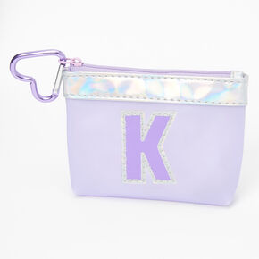 Purple Initial Coin Purse - K,