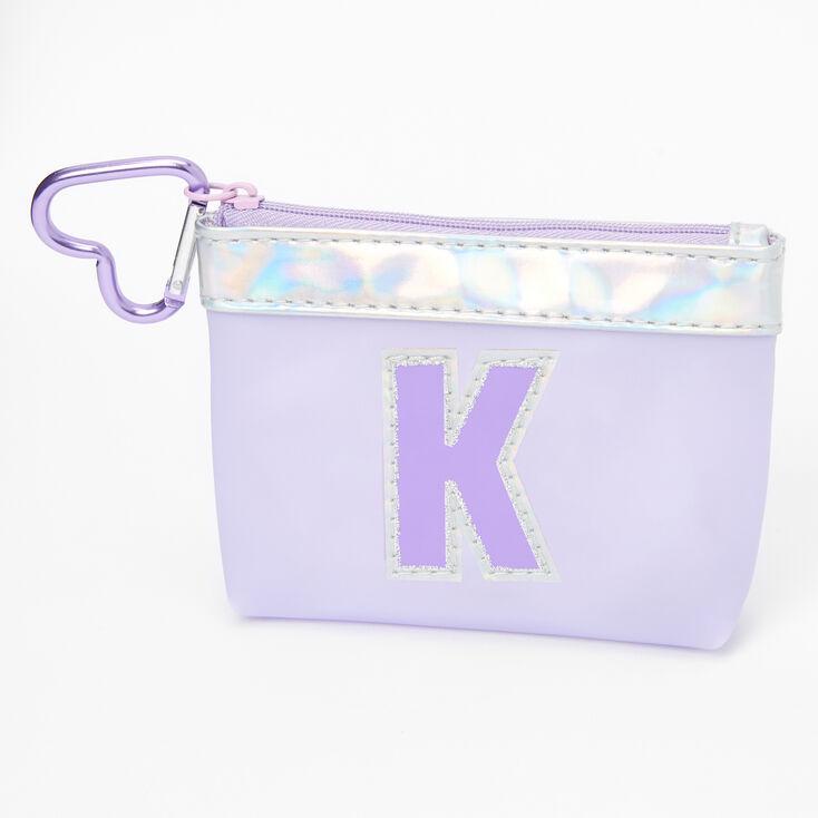 Purple Initial Coin Purse - K,