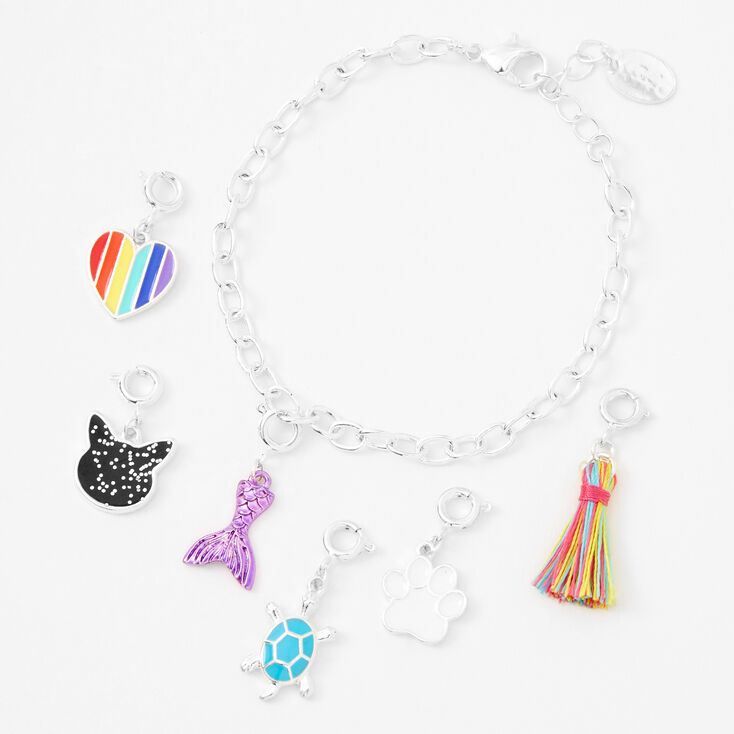 'Make Your Own' Charm Bracelet - Silver,
