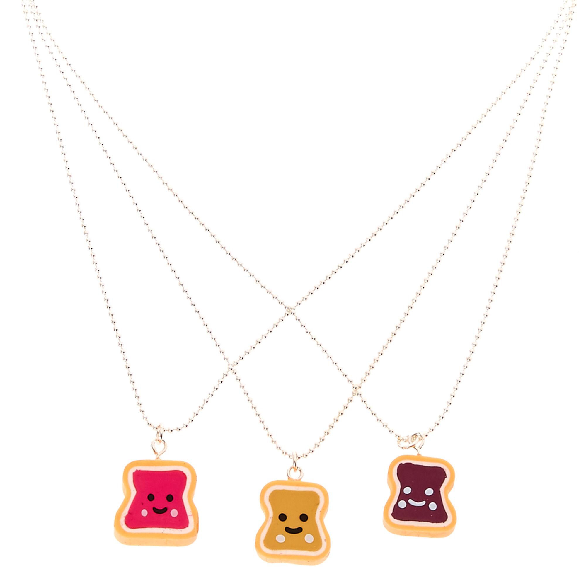 Best friends pb j pendant necklaces claires us best friends pb amp j pendant necklaces aloadofball Gallery