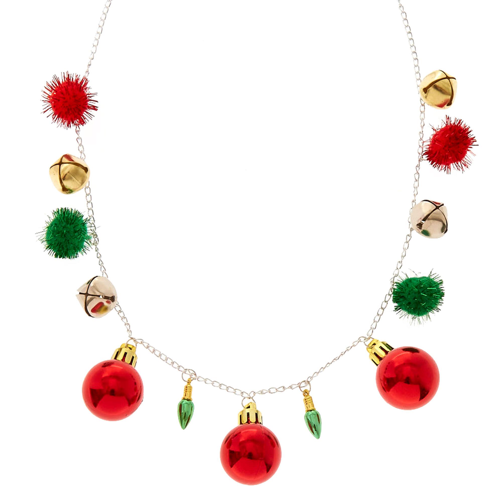 collier noel Collier de Noël extravagant | Claire's FR collier noel