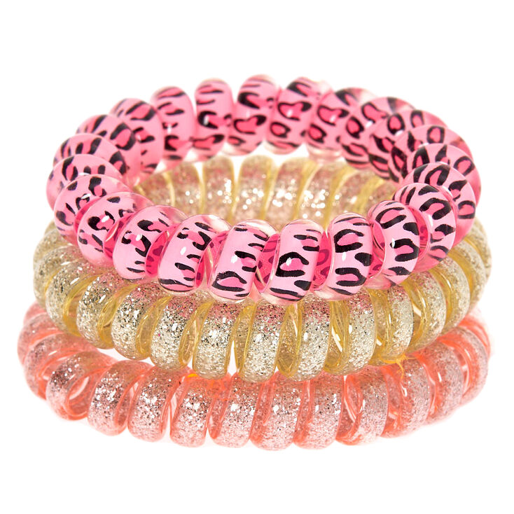 Claire's Club Cat Spiral Hair Bobbles - 3 Pack,