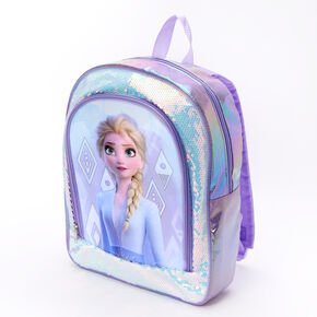 ©Disney Frozen 2 Elsa Holographic Sequins Large Backpack - Purple,
