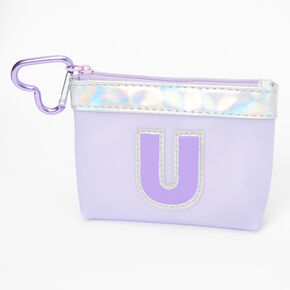 Purple Initial Coin Purse - U,