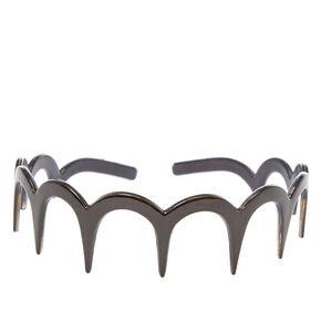 Black Scalloped Teeth Comb Headband,