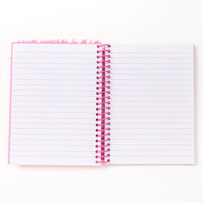 Silicone Fur Star Notebook - Pink,
