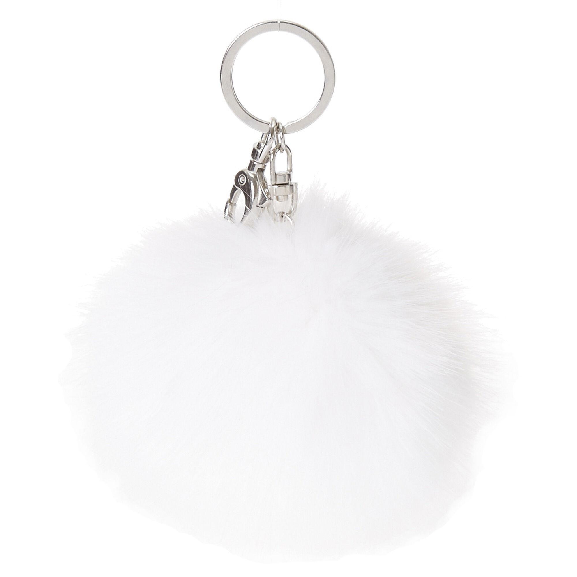 White Pom Keychain ... de884bf8e