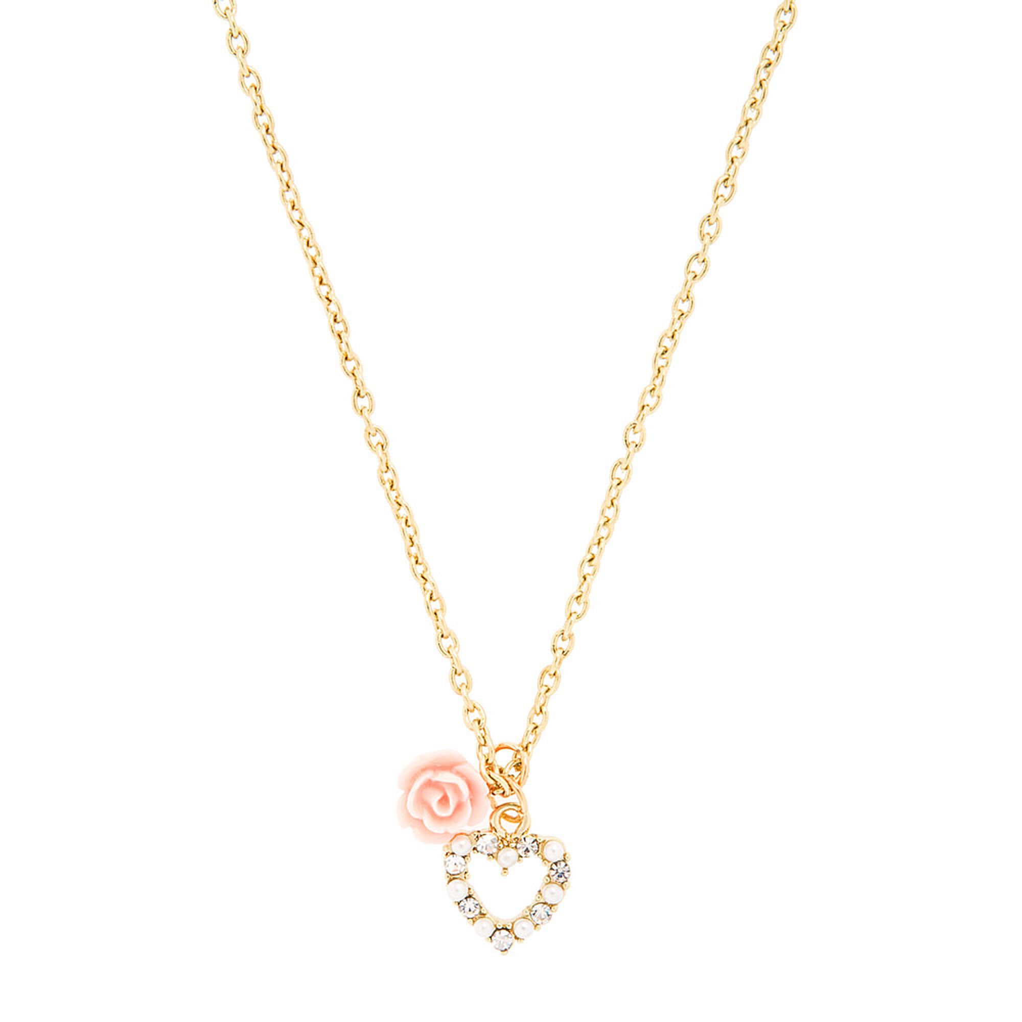 s charm necklace tone rose claire gold