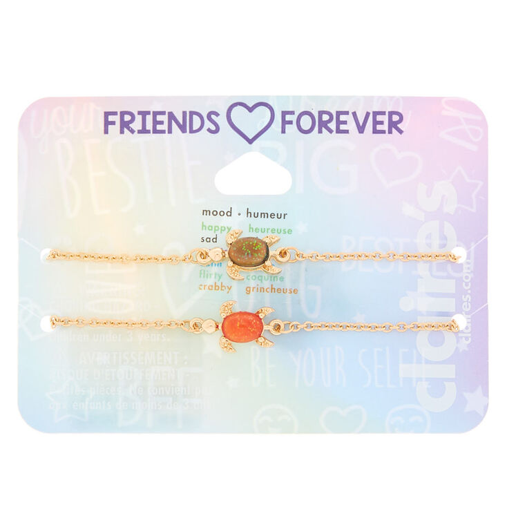 Gold Mood Turtle Chain Friendship Bracelets - 2 Pack,