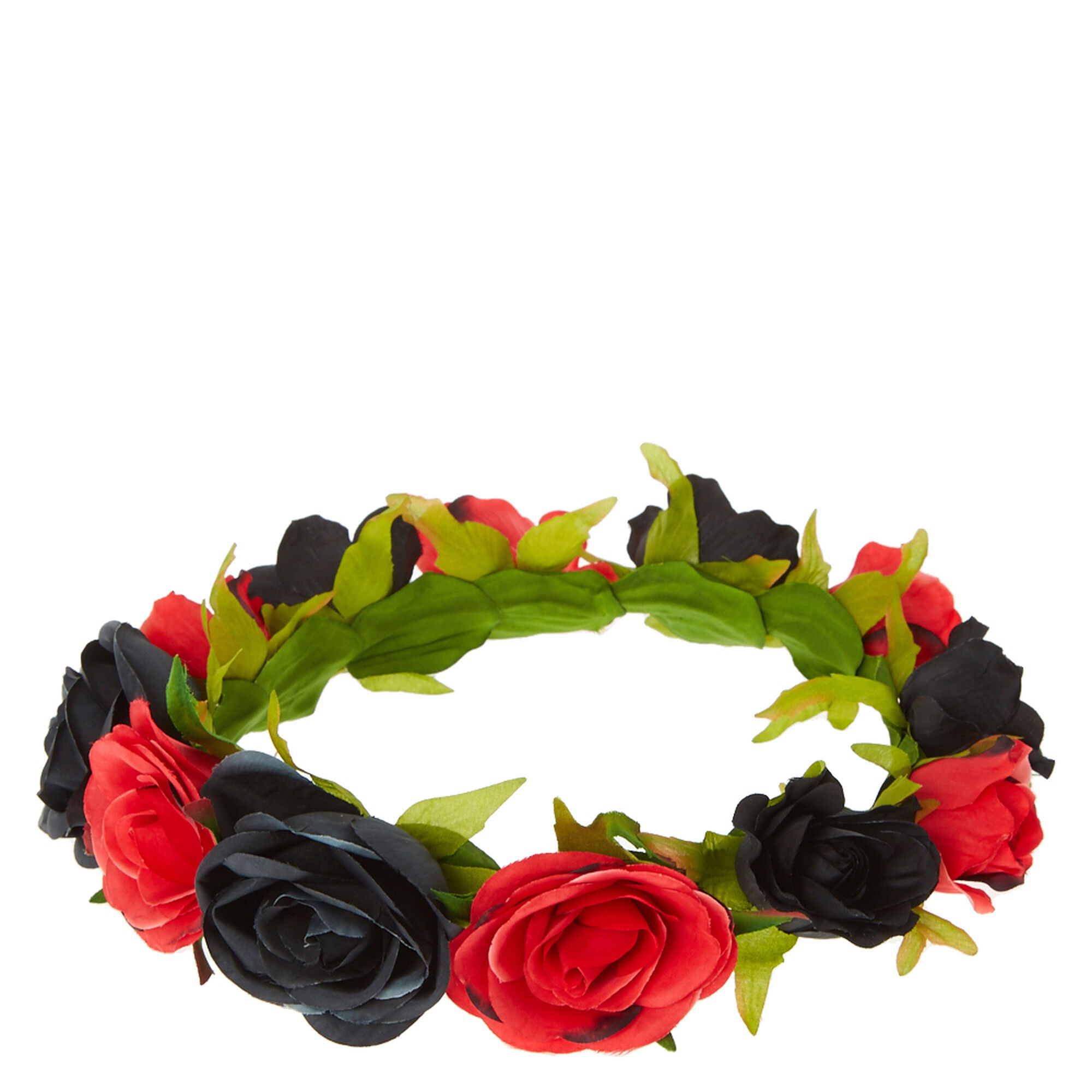 Black and red rose flower crown claires black and red rose flower crown izmirmasajfo