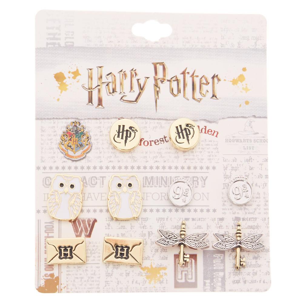 New Harry Potter BLACK /& GOLD 5 Pair Earrings Set