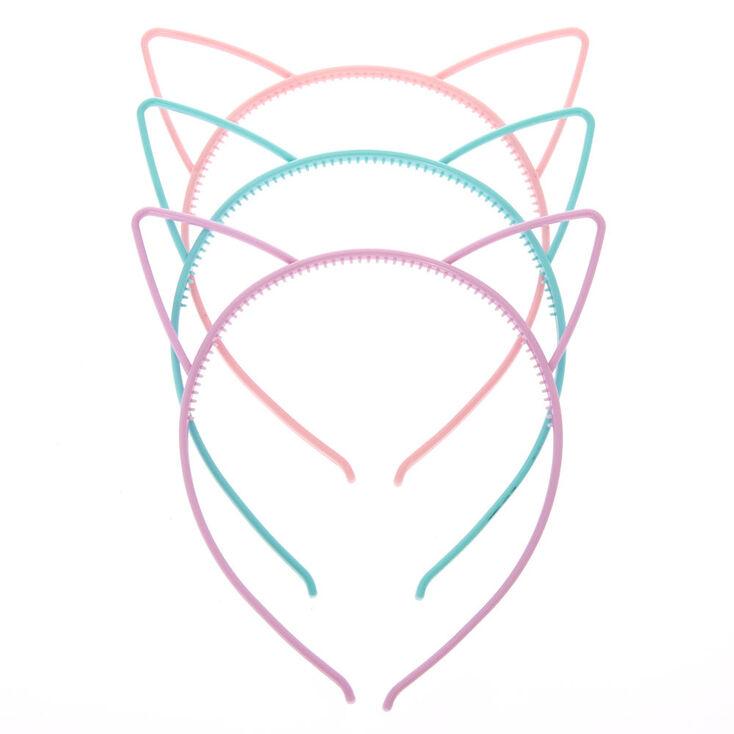 Lot de serre-têtes oreilles de chat pastel pour enfants,
