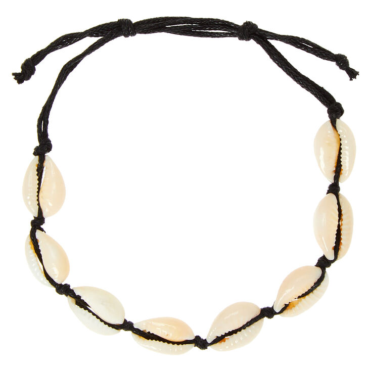 Cowrie Shell Anklet - Black,