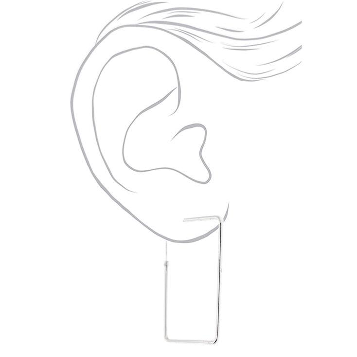 Sterling Silver 47MM Square Hoop Earrings,
