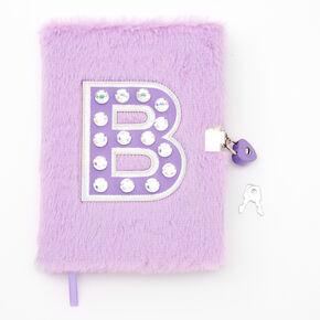 Giant Initial Furry Lock Diary - B,
