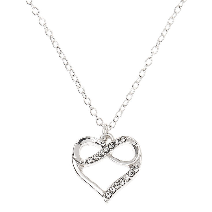 Silver Forever In Love Pendant Necklace,