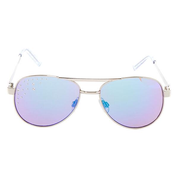 Claire's - club glitter aviator sunglasses - 2