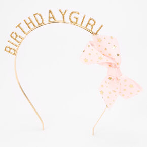 Gold Glitter Birthday Girl Headband,