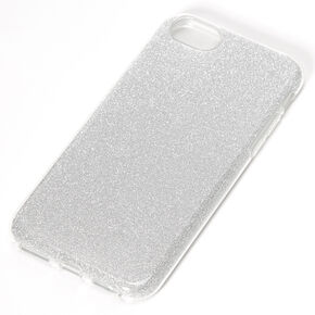 Silver Glitter Protective Phone Case - Fits iPhone 6/7/8/SE,