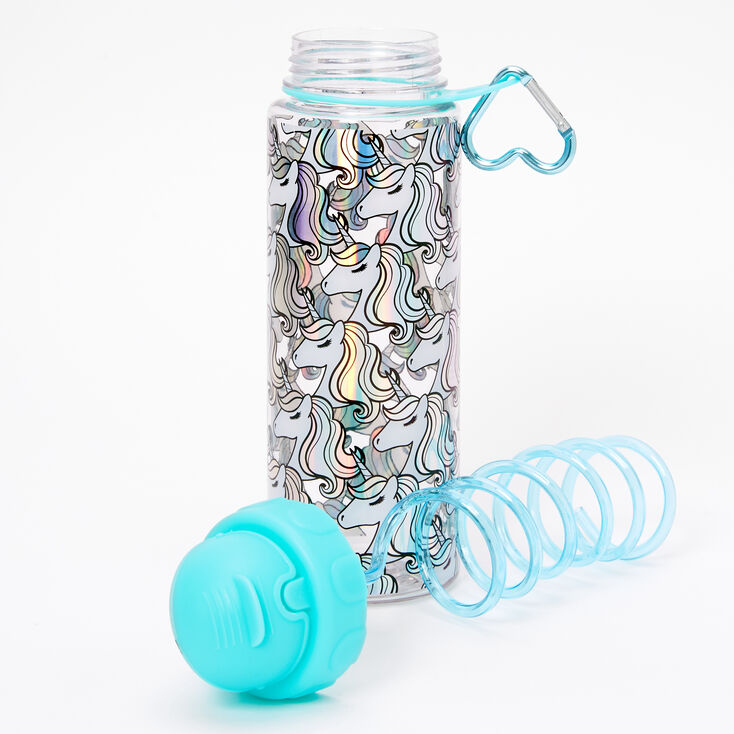 Miss Glitter the Unicorn Holographic Water Bottle,