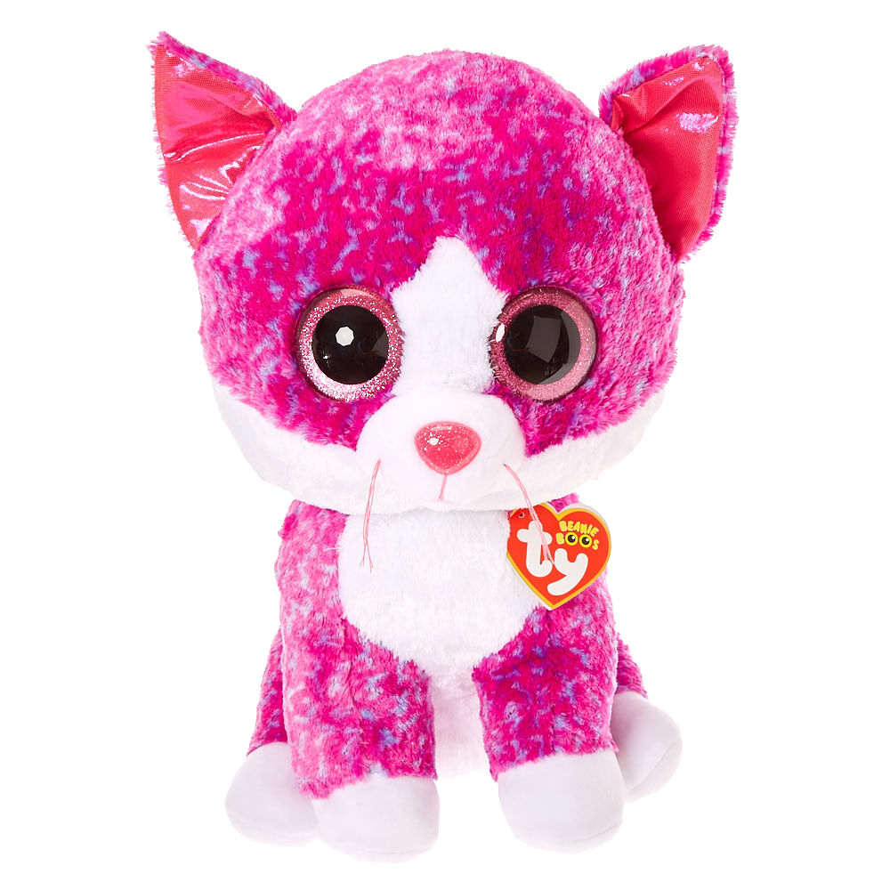 "Claires Exclusive Ty 16/"" LARGE//JUMBO Beanie Boos ~ CHARLOTTE the Cat NEW"