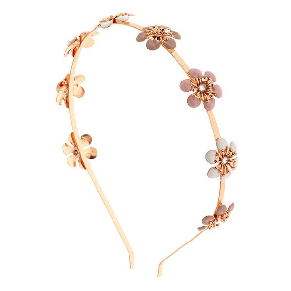 Claire's - rose blush flowers headband - 1