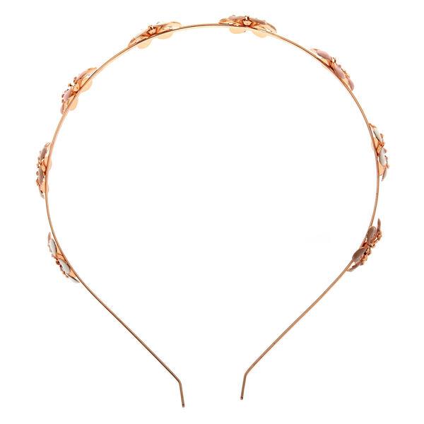 Claire's - rose blush flowers headband - 2