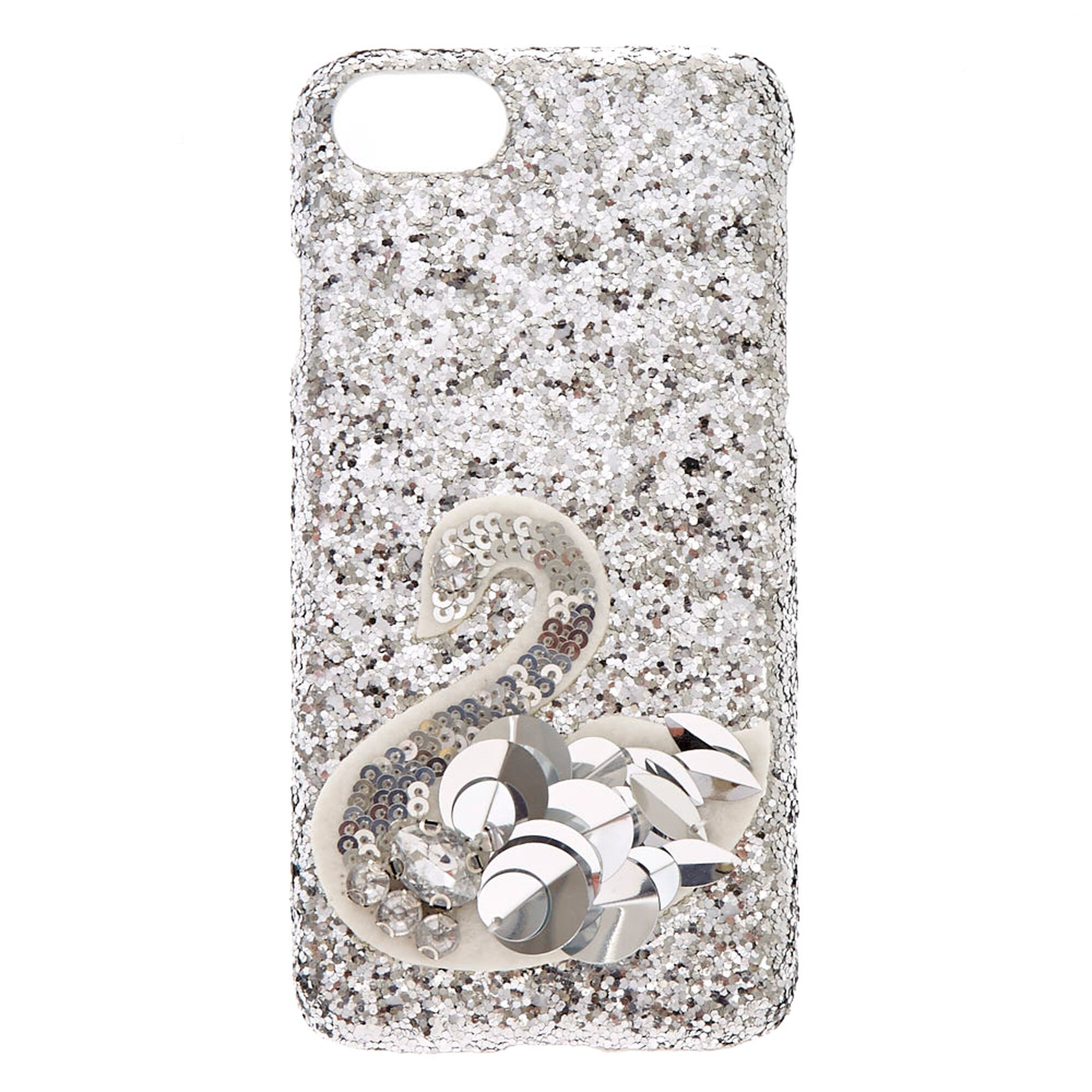 sports shoes fc28e 0e846 Silver Sequin Swan Phone Case