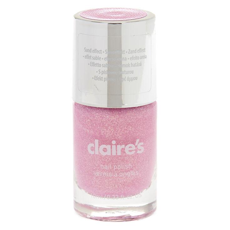Pink Pastel Glitter Sand Nail Polish