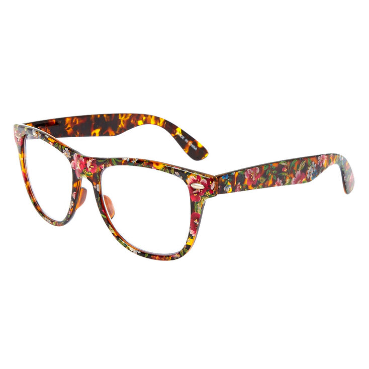a8dcb1c5f Floral Tortoise Shell Frames | Claire's US