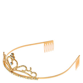 Claire's Club Heart Tiara - Gold,