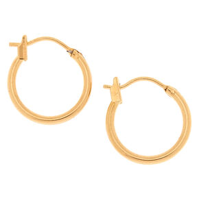 182f8a8be 18kt Gold 14MM Plated Hoop Earrings