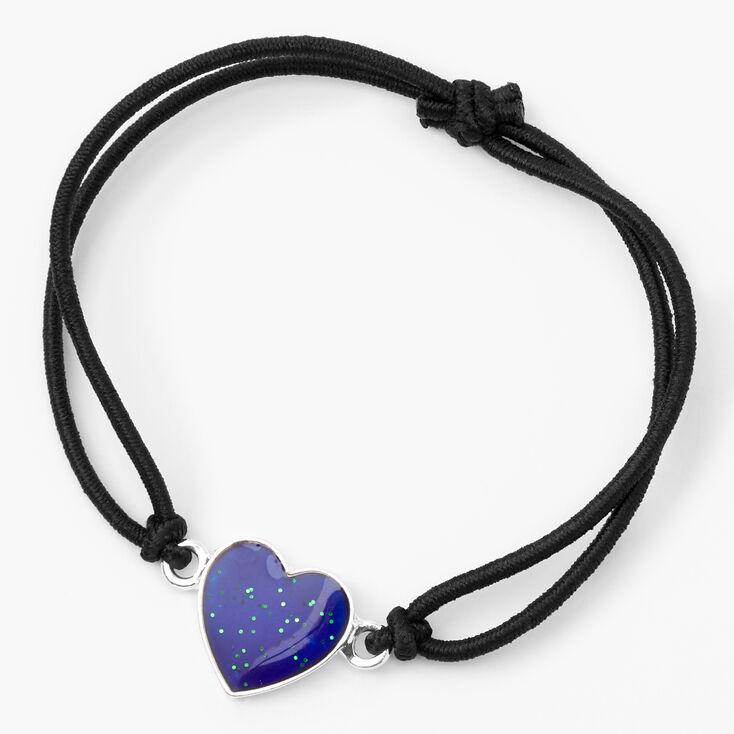 Bracelet d'humeur cœur - Noir,
