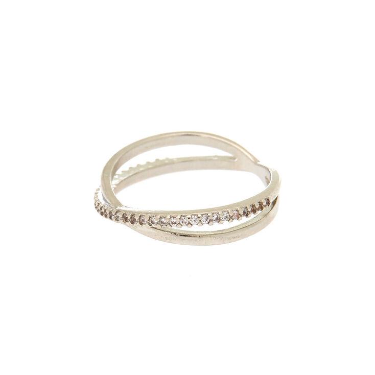 Silver Criss Cross Ring,