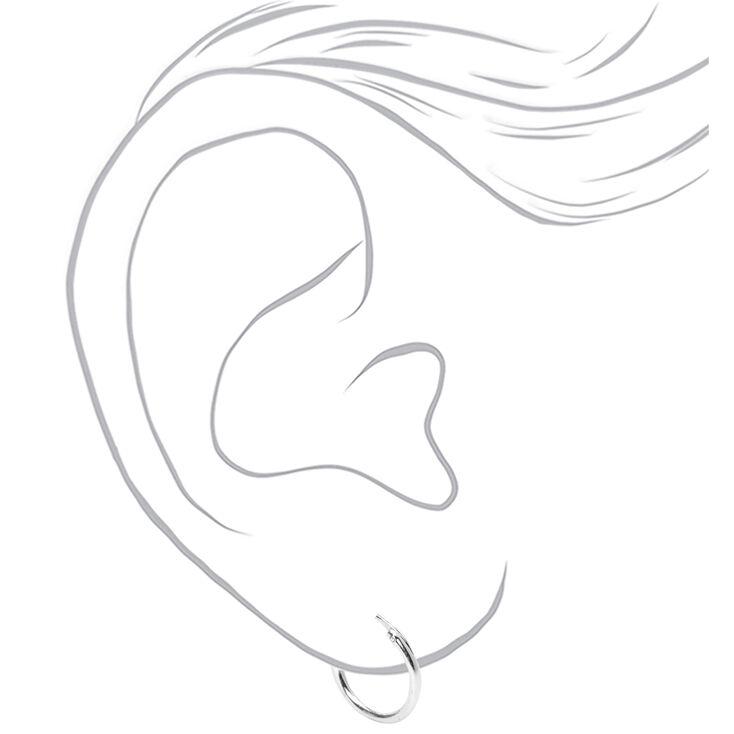 Sterling Silver Huggie Hoop Earrings - 2 Pack,