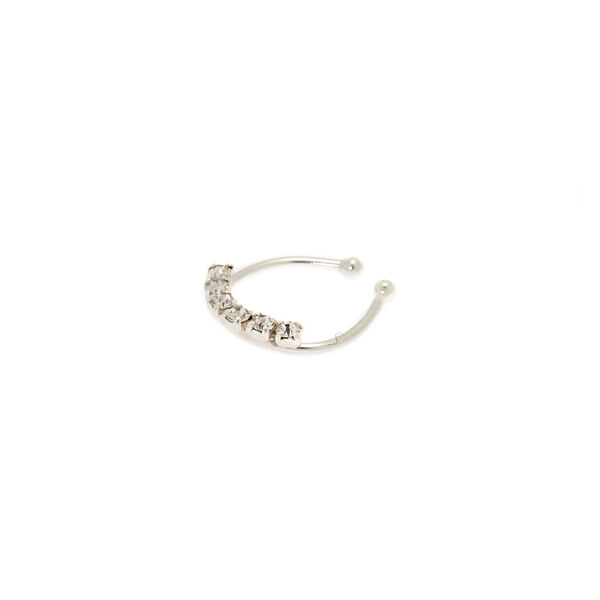 Claire's - sterling stone faux septum ring - 1