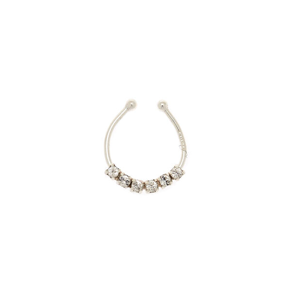 Claire's - sterling stone faux septum ring - 2