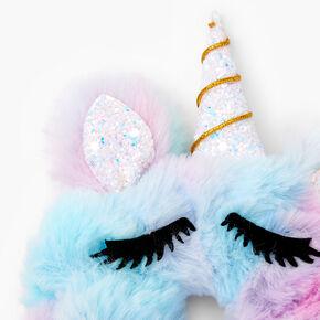 Meduim Faux Fur Pastel Ombre Unicorn Hair Scrunchie,