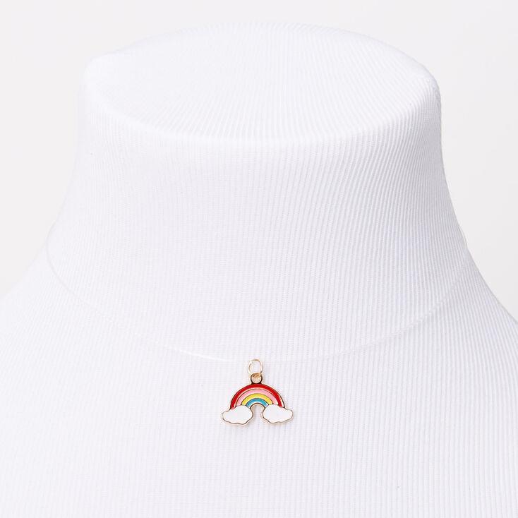 Rainbow Illusion Pendant Necklace - Turquoise,