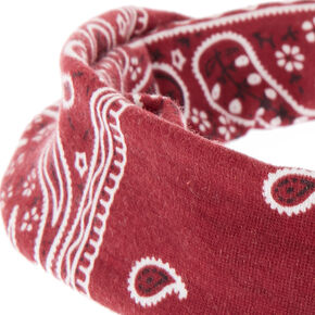 Bandana Twisted Headwrap - Burgundy,
