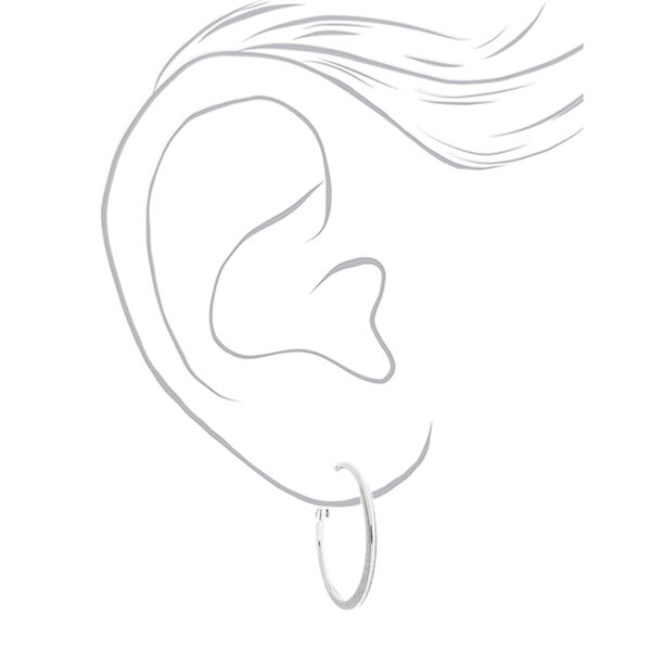 Claire's - 30mm glitter hoop earrings - 2