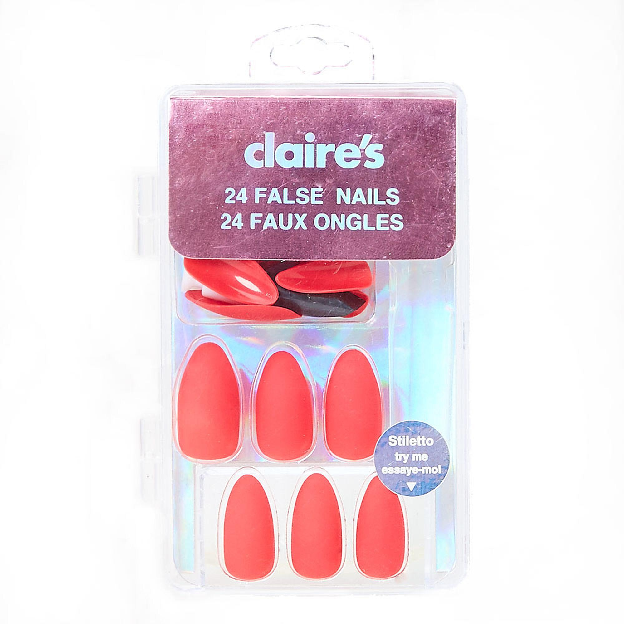 faux ongles talon aiguille rouge mat claire 39 s fr. Black Bedroom Furniture Sets. Home Design Ideas